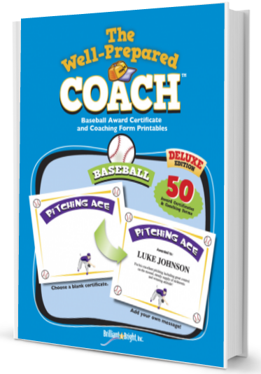 the well prepared coach baseball certificates forms coach and