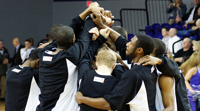 basketball team leadership huddle